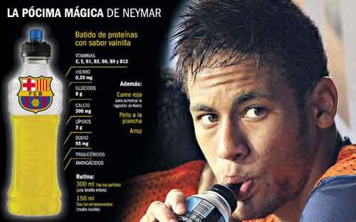 Bí mật chế độ dinh dưỡng của Neymar - 1