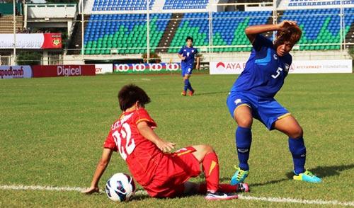 ĐT nữ VN hòa Thái Lan ngày ra quân - 1