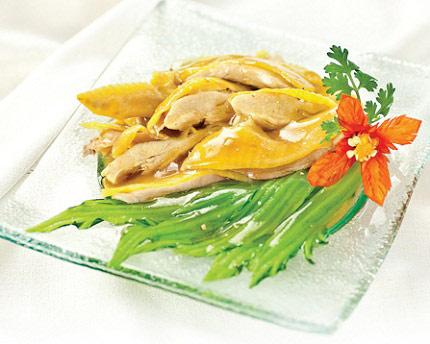 Cách làm gà hấp cải bẹ xanh - 1