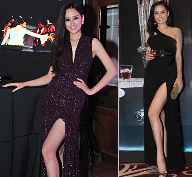 Ưu điểm của váy xẻ là sự kiêu sa, quyễn rũ, hợp với các bữa tiệc.