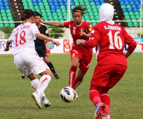 ĐT nữ Việt Nam thắng đậm Jordan 4-0 - 1