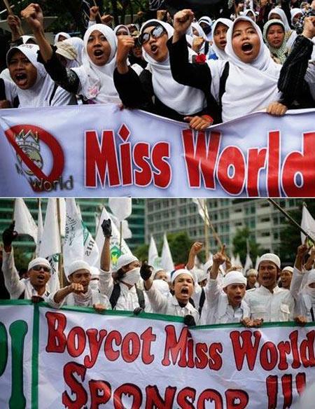 Dời đến Bali, Miss World vẫn bị đe dọa - 1