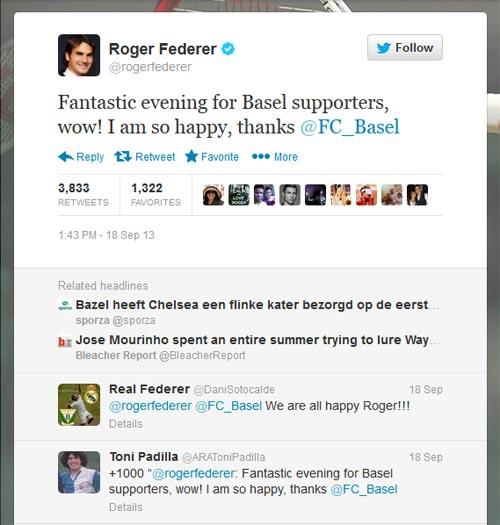 """Federer """"sốc"""" khi Basel đả bại Chelsea - 1"""