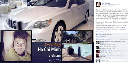 Cao Thái Sơn được fan tặng xe hơi - 1
