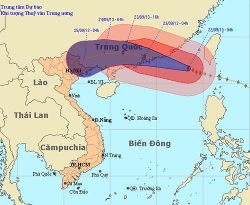 Siêu bão Usagi di chuyển nhanh - 1