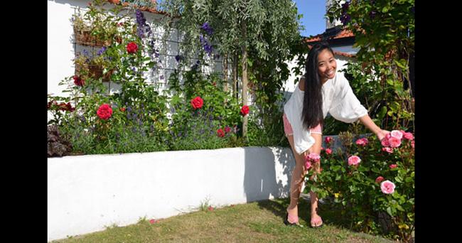 Ngoài vườn được trồng rất nhiều hoa