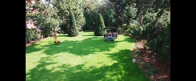 Tại nhà chồng ở Hà Lan có khu vườn rất rộng.