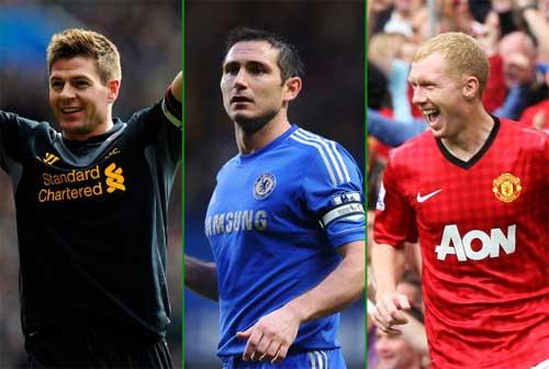 Gerrard ăn đứt Paul Scholes và Lampard - 1