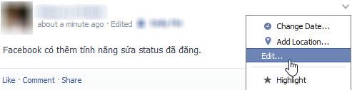 """Cư dân mạng """"ném đá"""" tính năng sửa status Facebook - 1"""
