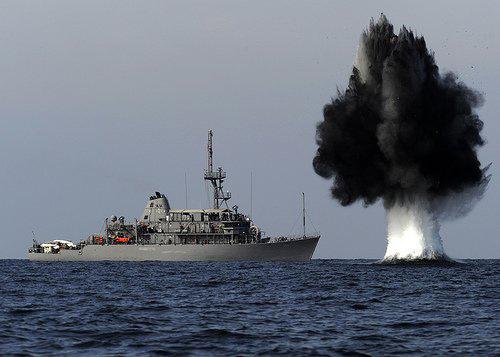 Tàu chiến TQ lần đầu diễn tập quét mìn ở Biển Đông - 1