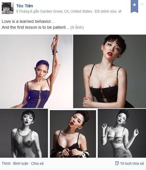 Mẹ Tóc Tiên không ủng hộ hình ảnh sexy của con gái - 1