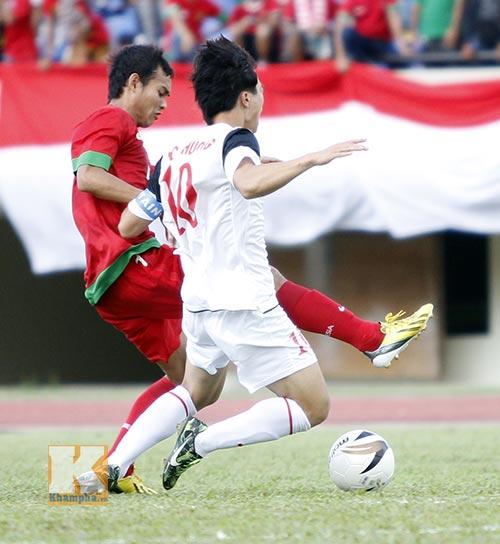 Mặc U19 Indonesia đá rắn, U19 VN vẫn thăng hoa - 1