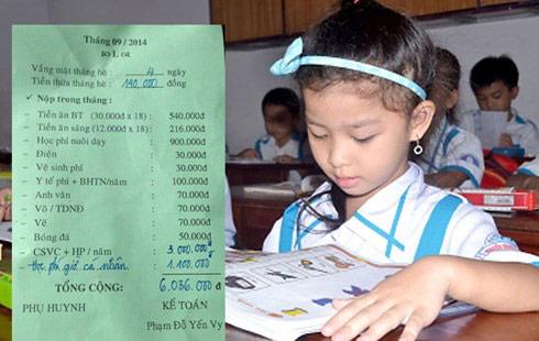 Tiền trường đầu năm: Tiền thu đầy tay, biên lai không có - 1