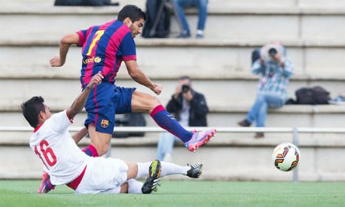 Suarez lập cú đúp giúp đội trẻ Barca đại thắng - 1