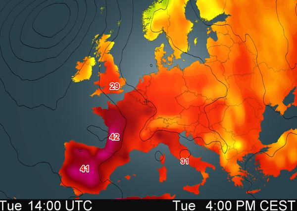 Dân châu Âu khốn khổ vì nắng nóng kỷ lục - 1