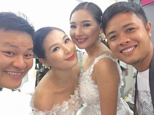 Vợ Duy Nhân xinh đẹp mặc váy cưới - 1