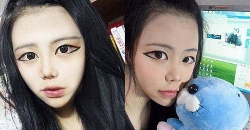 """Kiểu vẽ mắt to như """"quái nhân"""" của các thiếu nữ Hàn - 1"""