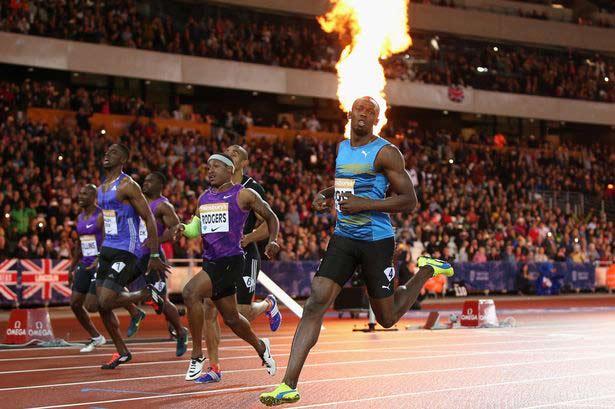 Usain Bolt lần đầu chạy 100m dưới 10 giây năm 2015 - 1
