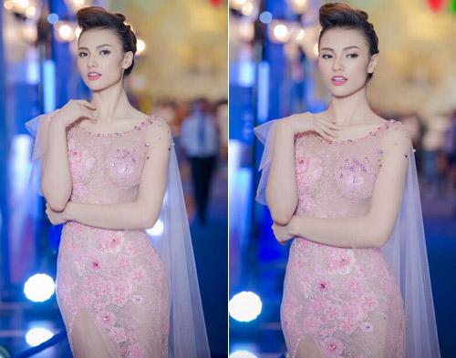 Chân dài Hồng Quế mặc váy xuyên thấu gây tò mò - 1