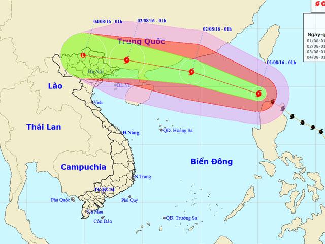 Bão số 2 - bão Nida tiếp tục mạnh lên cấp 13-14 - 1