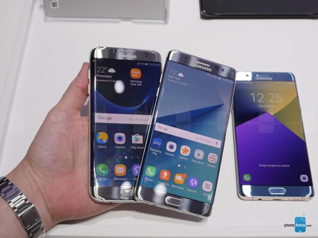Hai mẫu smartphone cao cấp Galaxy Note 7 và Galaxy S7 edge đều được Samsung ra mắt trong năm 2016 này. Galaxy S7 Edge là thiết bị đầu bảng dòng S, còn Note 7 là thiết bị mới tốt nhất dòng Note.