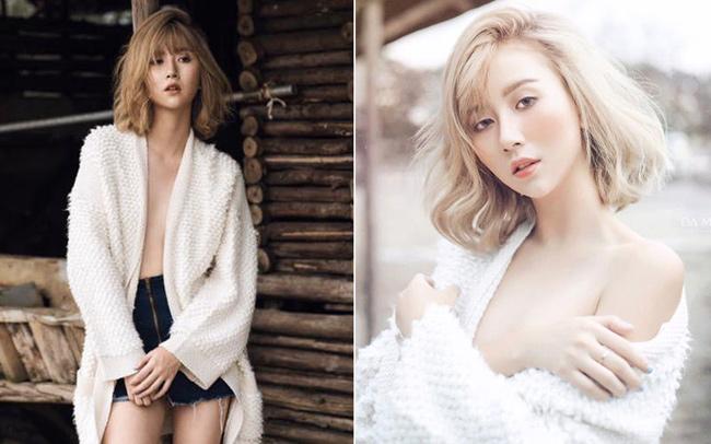 Hot girl Hà thành này ngày một thay đổi phong cách sang hướng sexy.