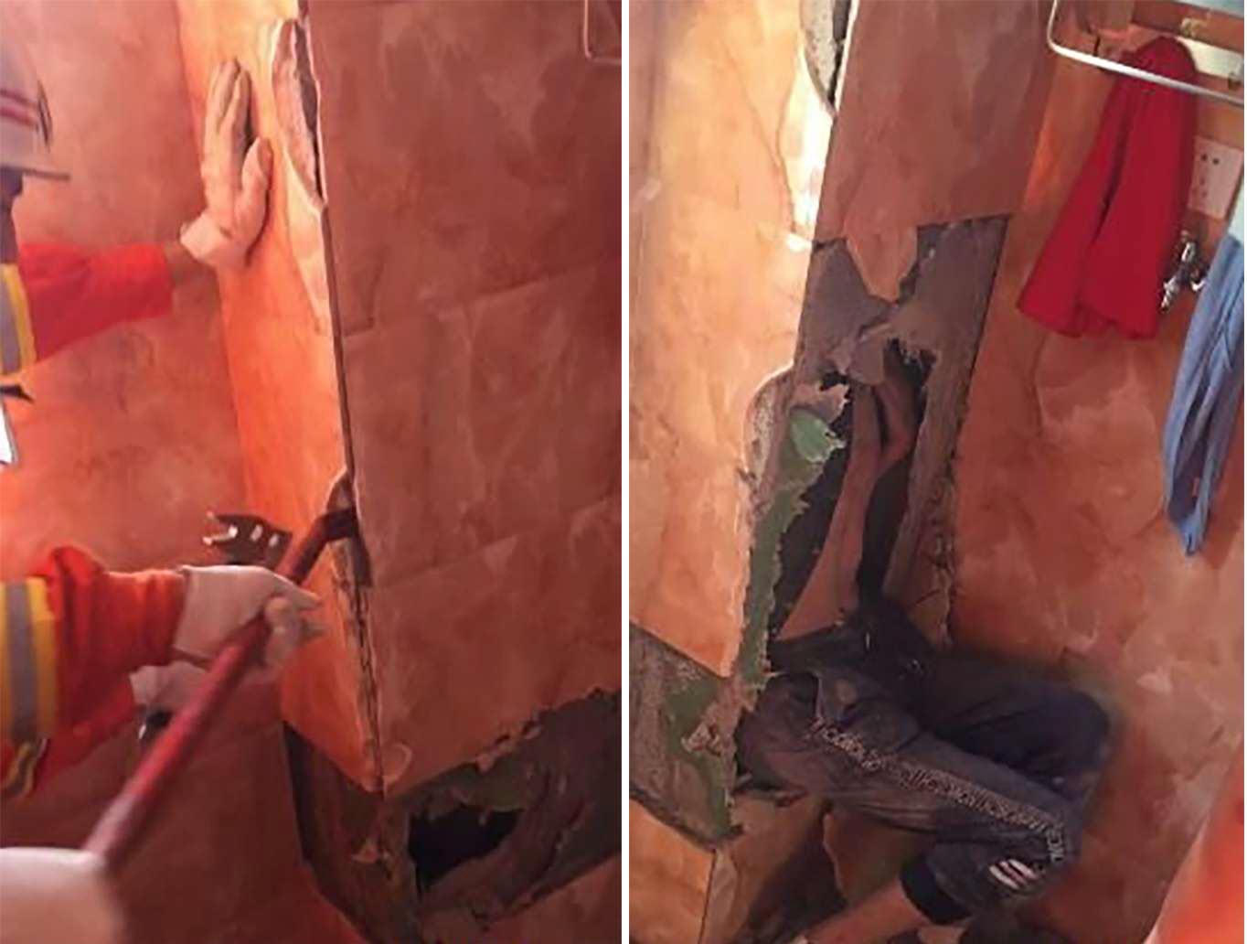 Chủ nhà về bất chợt, trộm trốn tắc ống thông khí toilet - 1