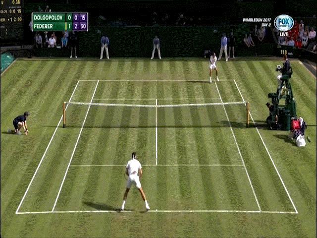 Hot shot Wimbledon: Federer