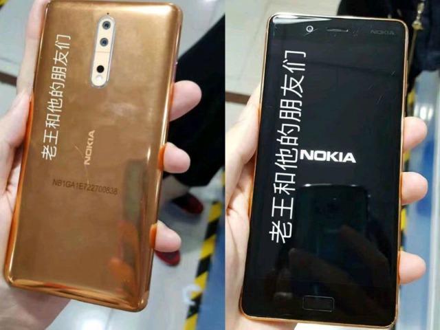 Bất ngờ xuất hiện phiên bản Nokia 8 màu vàng đồng