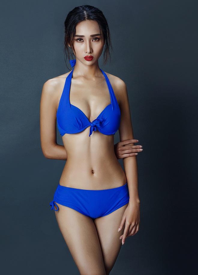 Mỹ nữ Đà Nẵng có vòng eo bé khó tin 55cm gây chú ý tại Hoa hậu Hoàn vũ - 1