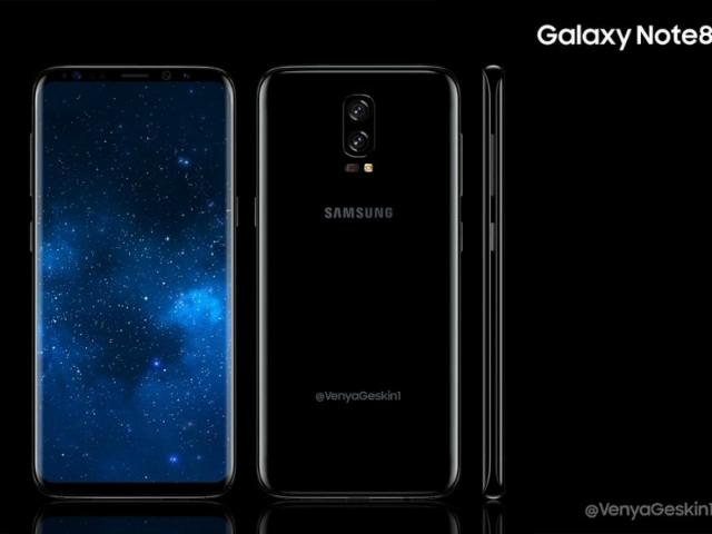 Galaxy Note 8 xuất hiện bản màu Đen Midnight đẹp mê hồn