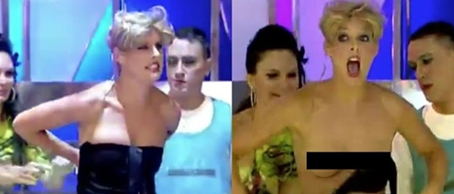 Tai nạn váy áo khó đỡ của các MC truyền hình thế giới - 1