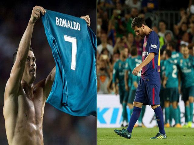 """Đại tiệc Barca - Real: Messi lê bước, Ronaldo ăn mừng """"phơi áo"""""""