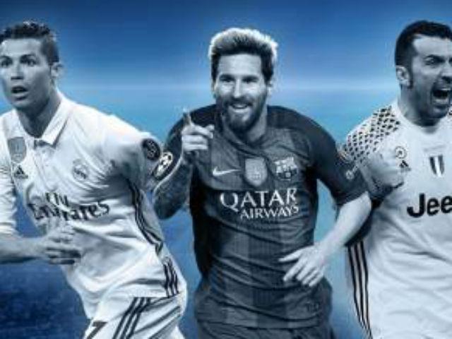"""Cầu thủ hay nhất châu Âu: Messi, Buffon chờ """"làm nền"""" cho Ronaldo"""