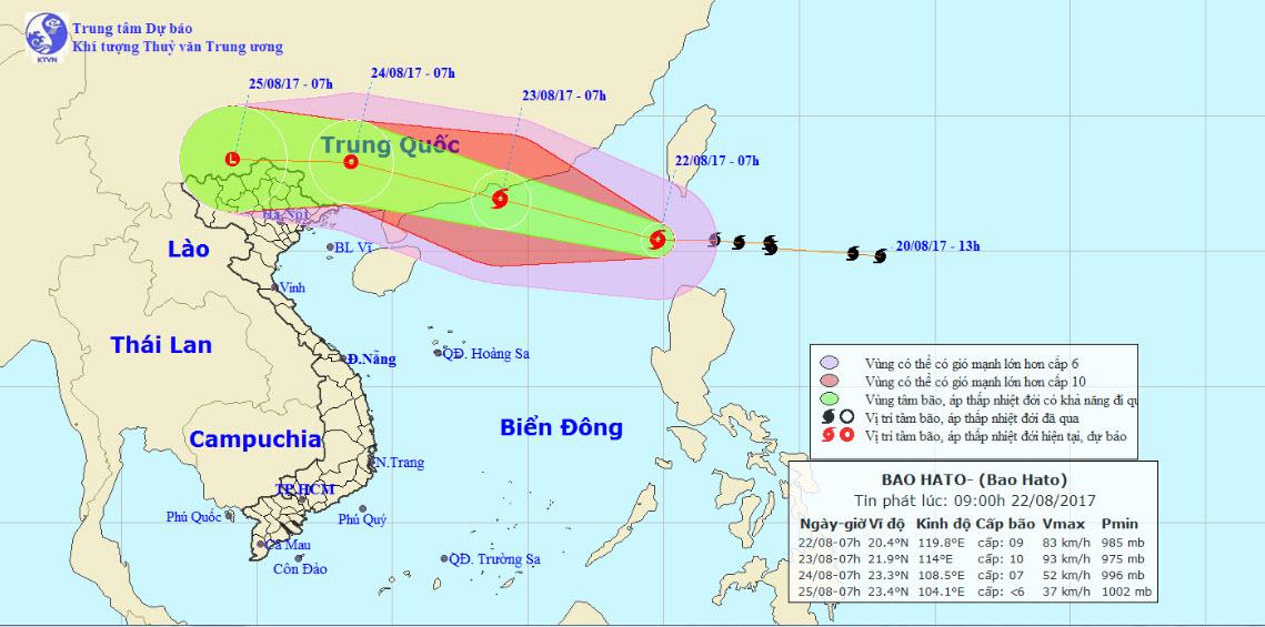 Bão số 6 gió giật cấp 11 đi vào Biển Đông - 1