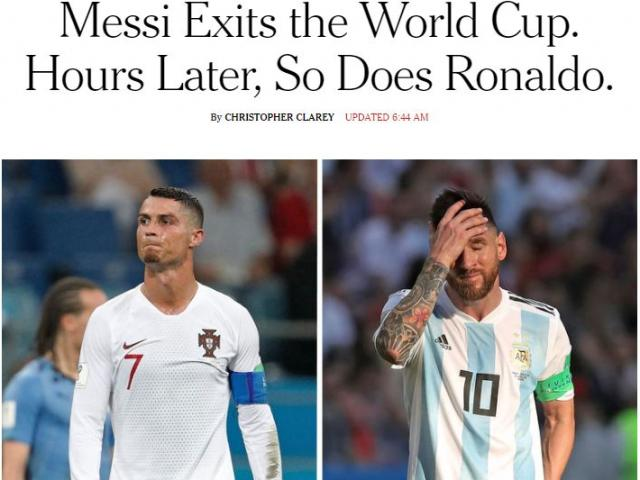 Bồ Đào Nha sớm rời World Cup: Báo thế giới chê Ronaldo vô duyên như Messi