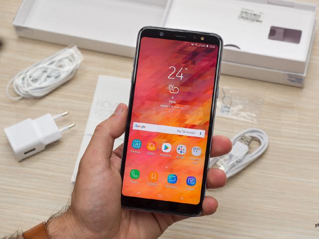 Video mở hộp Samsung Galaxy A6+ đẹp không kém Galaxy S8