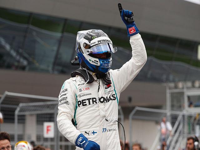 """Đua xe F1, phân hạng Austrian GP: Bottas """"đánh dấn lãnh thổ"""" tại Red Bull Ring"""
