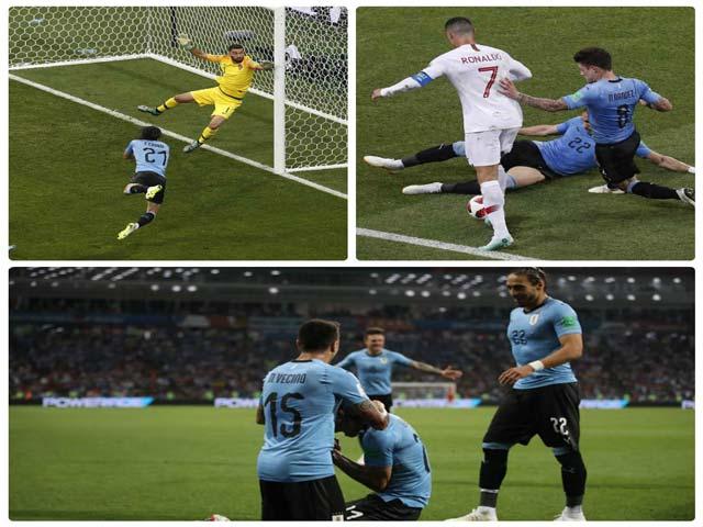 """Góc chiến thuật Uruguay-Bồ Đào Nha: """"Xe bus"""" nhốt Ronaldo, Cavani-Suarez tung hoành"""
