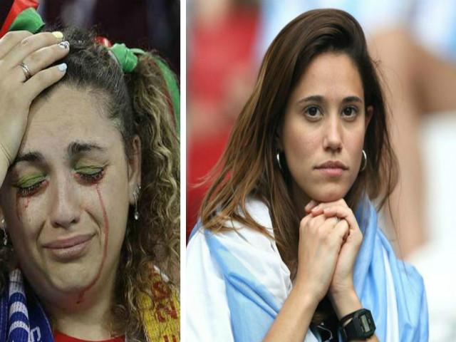 Ấn tượng World Cup 1/7: Fan nữ nhòe lệ thương Messi, Ronaldo