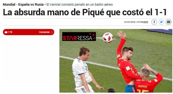 """Pique tội đồ của Tây Ban Nha: Truyền thông xứ """"Bò tót"""" mắng thậm tệ - 1"""