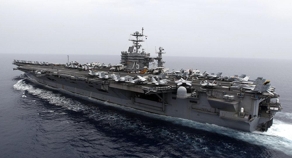 """Đội tàu sân bay Mỹ """"nắn gân"""" tàu ngầm Nga ở Đại Tây Dương - 1"""