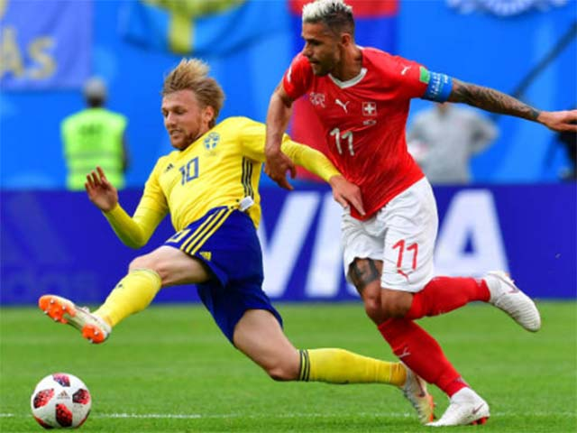 Trực tiếp World Cup, Thụy Điển - Thụy Sỹ: Cầu thủ Thụy Sĩ bị thẻ đỏ (KT)