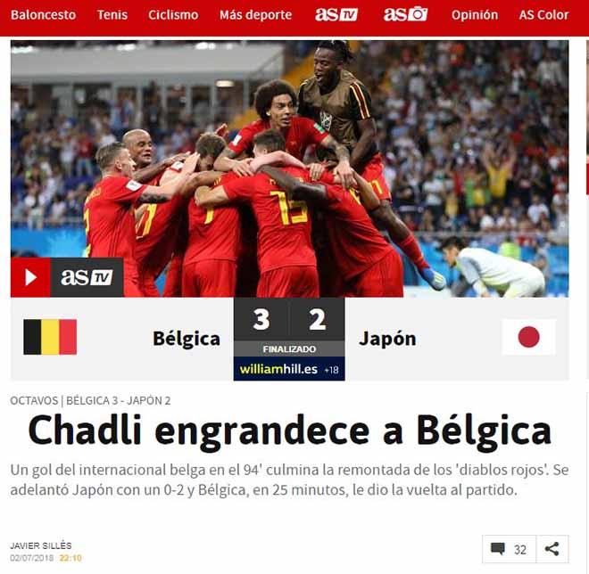 """Kịch chiến World Cup Nhật Bản - Bỉ: Châu Âu choáng váng, khen """"Samurai"""" thượng võ - 1"""