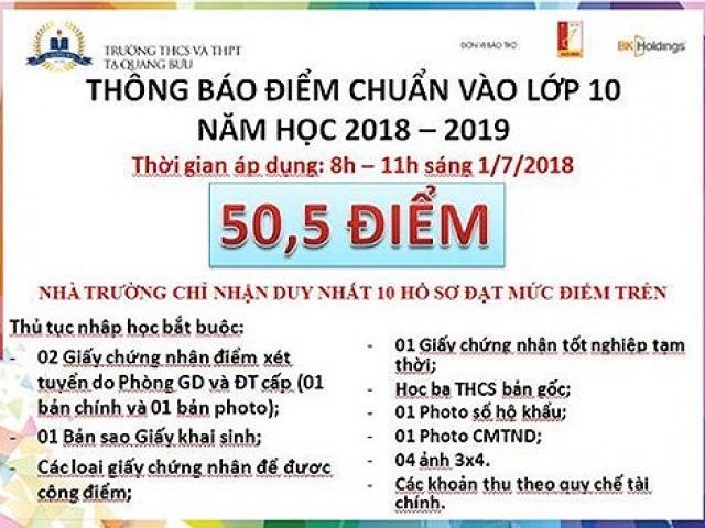"""Trường Tạ Quang Bửu nói gì khi điểm chuẩn vào lớp 10 thay đổi như """"sàn chứng khoán""""?"""