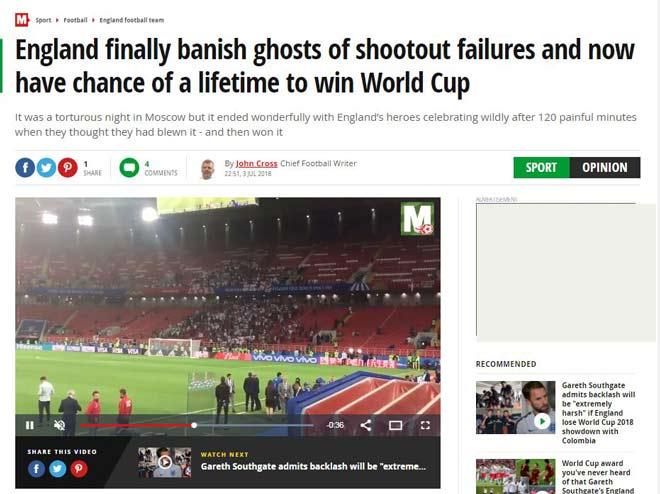 Anh thắng 11m, chấn động World Cup: Báo xứ sương mù mơ cúp vàng 52 năm - 1