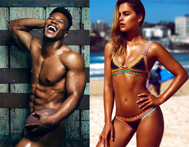 """Nam thần cơ bắp cuồn cuộn """"lột sạch 100%"""": Mỹ nhân bikini liền """"mời gọi"""" - 1"""