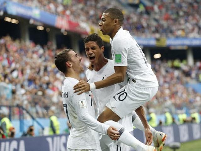 """World Cup: """"Thần đồng"""" Pháp, Mbappe như """"cơn lốc"""", Uruguay khiếp vía"""