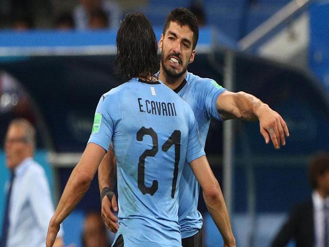 """Rực lửa tứ kết World Cup: Uruguay mơ vô địch với """"súng 2 nòng"""" Suarez - Cavani"""