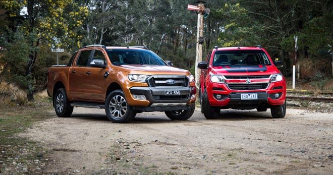 So sánh Ford Ranger 2.2 XLS và Chevrolet Colorado 2.5 VGT : Phiên bản một cầu số tự động giá rẻ - 1